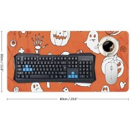 Laptop Desk Mat Office Desk Pad Happy Halloween with Many Pumpkin and Skulls Desk Mats on Top of Desks Large Desk Pad Protector for Office Work Home Decor 12 X 24 Office Products B08KDHCTLT